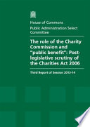 The Role Of The Charity Commission And Public Benefit