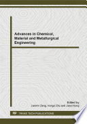 Advances In Chemical Material And Metallurgical Engineering Book PDF