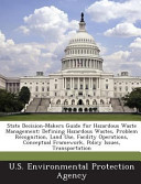 State Decision Makers Guide For Hazardous Waste Management