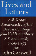 Lives and Letters