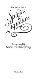 The pocket guide to spirits and liqueurs