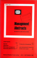 Management Abstracts
