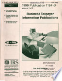 1999 Publication 1194 B  Volume 1 of 2  Business Taxpayer Information Publications