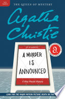 A Murder Is Announced Agatha Christie Cover