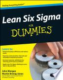List of Dummies Lean Six Sigma E-book