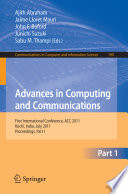 Advances in Computing and Communications  Part I Book
