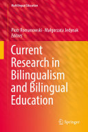 Pdf Current Research in Bilingualism and Bilingual Education Telecharger