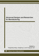Advanced Designs and Researches for Manufacturing [Pdf/ePub] eBook