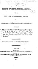 Pdf A Second Twelve-Penny Answer to a New ... Edition of a Three Shillings and Six-Penny Pamphlet [by Walter Boyd], intituled