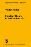 Function Theory in the Unit Ball of Cn Pdf/ePub eBook