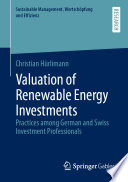 Valuation of Renewable Energy Investments