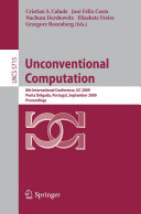 Unconventional Computation: 8th International Conference, UC ...