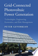 Grid Connected Photovoltaic Power Generation Book PDF