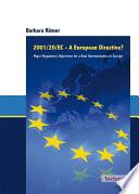 2001 20 EC   A European Directive  Book