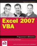 Excel 2007 VBA Programmer s Reference
