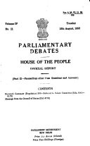 Parliamentary Debates House Of The People