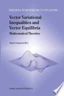 Vector Variational Inequalities and Vector Equilibria