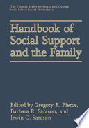 Handbook of Social Support and the Family Book