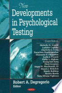 New Developments in Psychological Testing Book