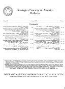 Geological Society of America Bulletin