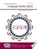 International Journal Of Language Studies Ijls Volume 6 1
