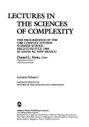 Pdf Lectures In The Sciences Of Complexity