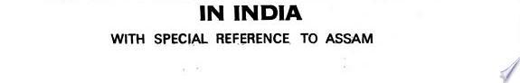 Economics of tea industry in India