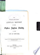 Annual Report of the Orphan Asylum Society of the City of New York