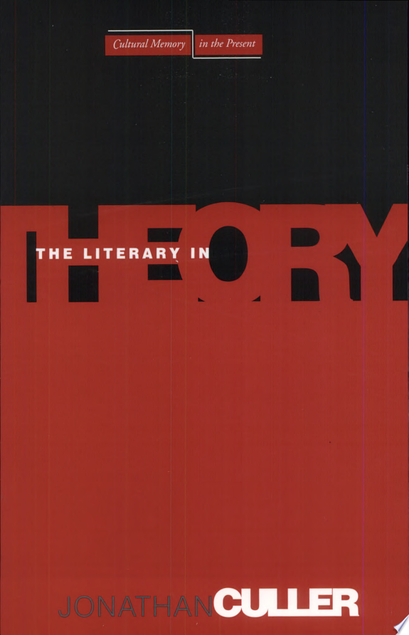 The+Literary+in+Theory
