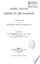 Saint Paul S Epistle To The Galatians