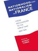 Pdf Nationhood and Nationalism in France Telecharger