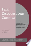 Text  Discourse and Corpora