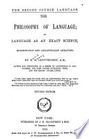 The Philosophy of Language  Or  Language as an Exact Science Book PDF
