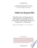 Bureau Of Population Refugees And Migration S Internally Displaced Persons Program In Pakistan