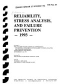 Reliability  Stress Analysis  and Failure Prevention  1993 Book