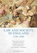 Law and Society in England 1750 1950