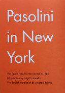 Pasolini in New York