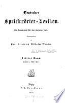 Deutsches Sprichwörter-Lexikon