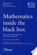 """Mathematics Inside the Black Box: Assessment for Learning in the Mathematics Classroom"" by Dylan Wiliam"
