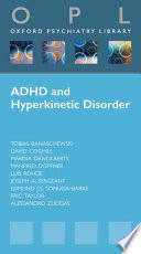 Attention Deficit Hyperactivity Disorder and Hyperkinetic Disorder Book