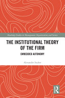 The Institutional Theory of the Firm Pdf/ePub eBook