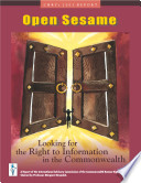 Open Sesame Looking For The Right To Information In The Commonwealth 2003  PDF