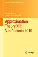 Cover image of Approximation theory XIII : San Antonio 2010