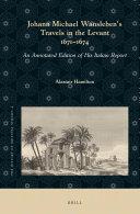 Johann Michael Wansleben's Travels in the Levant, 1671-74