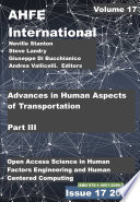 Advances in Human Aspects of Transportation  Part III Book