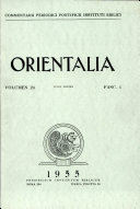 Orientalia: Vol. 24, No. 1
