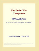 The End of Her Honeymoon (Webster's Korean Thesaurus Edition) Online Book