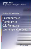 Quantum Phase Transitions in Cold Atoms and Low Temperature Solids [Pdf/ePub] eBook