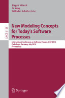 New Modeling Concepts for Today's Software Processes