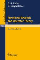Functional Analysis and Operator Theory [Pdf/ePub] eBook